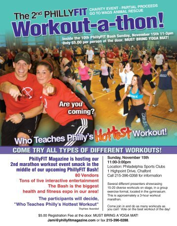 come try all types of different workouts! - PhillyFIT Magazine