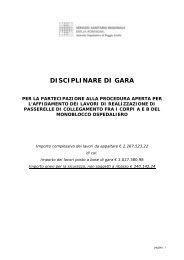 DISCIPLINARE DI GARA - Arcispedale S. Maria Nuova