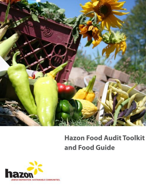 Hazon Food Audit Toolkit and Food Guide