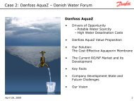AquaZ Presentation - Danish Water Forum