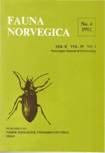 A check list of Norwegian Tipulidae (Diptera) - Norsk entomologisk ...