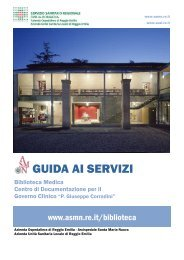 Guida ai servizi A4 - Biblioteca Medica - Arcispedale S. Maria Nuova