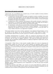 Progetto - Biblioteca Medica - Arcispedale S. Maria Nuova