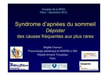Dépister le SAOS - Société pédiatrique de pneumologie et d ...