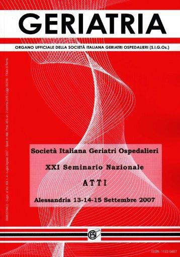 Societa Italiana Geriatri Ospedalieri emmario ... - Biblioteca Medica