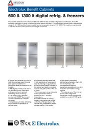 Electrolux Benefit Cabinets