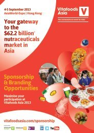 download the sponsorship brochure - Vitafoods Asia