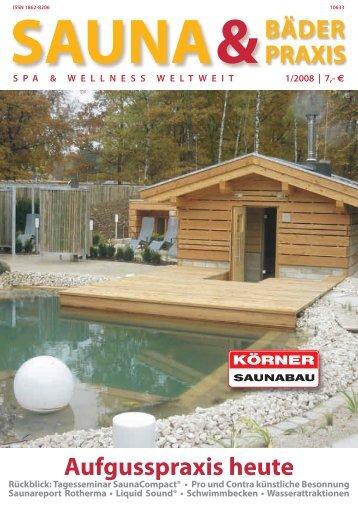 Sauna & Bäderpraxis 1/2008 - Trotz Krankheit in die Sauna
