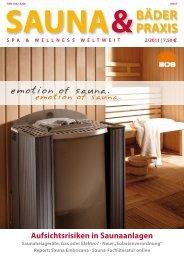 Sauna & Bäderpraxis 2/2011 - Deutscher Sauna-Bund e.V.