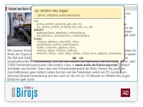 Tildes Biroja iespējas ikdienas darbā ar datoru latviešu ... - LIKTA