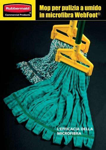 Mop per pulizia a umido in microfibra WebFoot® - Grupposds.it