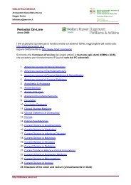 Elenco in PDF - Biblioteca Medica - Arcispedale Santa Maria Nuova