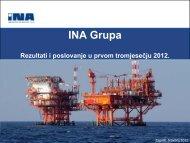 Rezultati i poslovanje u prvom tromjesečju 2012. - Ina