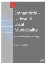 Rural Development Strategy - Emnambithi Ladysmith Municipality