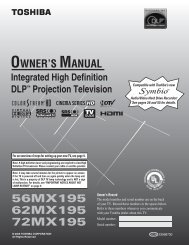 Owner's Manual - Home Theater HDTV