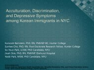 The impact of Acculturation and Discrimination Experiences on - IUPUI