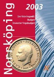 Budget 2003 - Norrköpings kommun