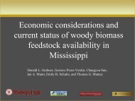 Economic considerations and current status of woody biomass ...