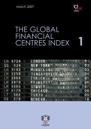 The global financial centres index (GFCI) 1 - The City Bridge Trust