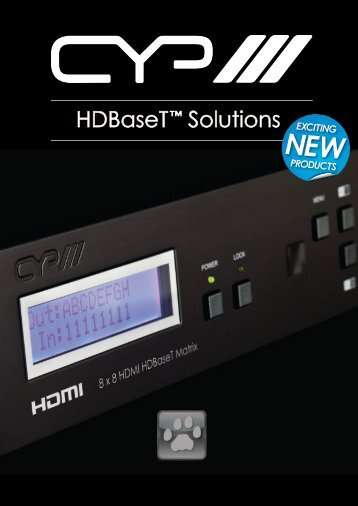 HDBaseT ™ Solutions EXCITING - CIE-Group