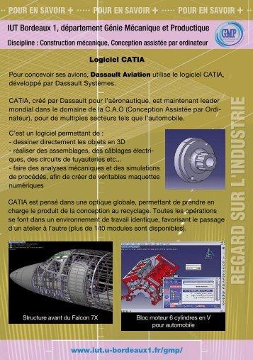 IUT Bordeaux 1, département Génie Mécanique et ... - Cap Sciences