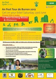 An Post Tour de Burren 2012 - Sligo Sport and Recreation Partnership