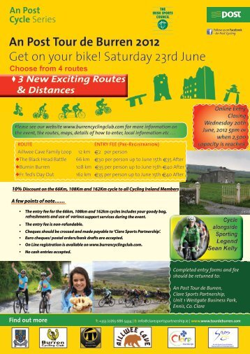 An Post Tour de Burren 2012 - Sligo Sport and Recreation Partnership