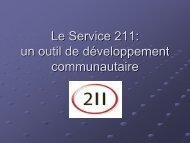 Le Service 211 un outil de développement communautaire