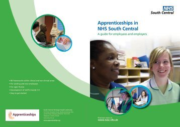 Apprenticeships in NHS South Central - Workforce and Education