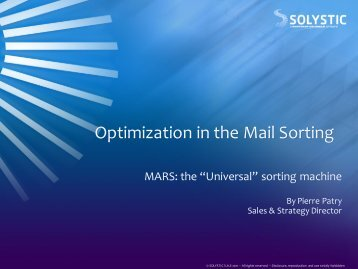 Optimization in the Mail Sorting - Triangle