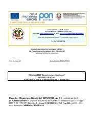 DOCENTE ESPERTO progetto di matematica - 28 marzo 2013