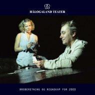 Årsmelding 2003 - Hålogaland Teater