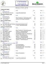 Individuelle resultater NM Felt 2009
