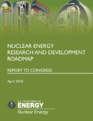 Nuclear Energy Research and Development Roadmap - U.S. ...