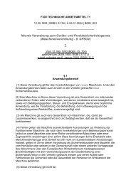 Maschinenverordnung - 9. GPSGV - ZLS