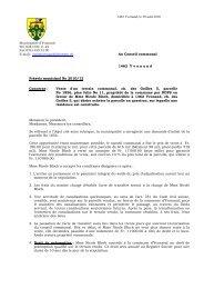 Préavis 2010/12 Vente d'un terrain communal, ch. des ... - Yvonand