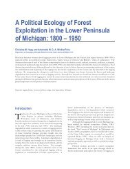 A Political Ecology of Forest Exploitation in the Lower Peninsula of ...