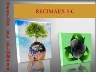 Recuperación de biomasa y gestión de residuos - Altercexa