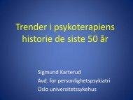 30 års fascinasjon for personlighetsforstyrrelser - Region ...