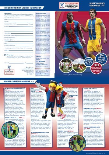 CPFC Summer 2013 Courses - Surrey County FA