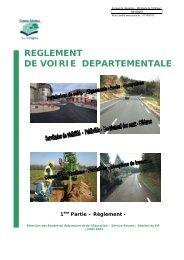 REGLEMENT DE VOIRIE DEPARTEMENTALE - Vosges