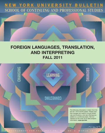 foreign languages, translation, and interpreting - School of ...