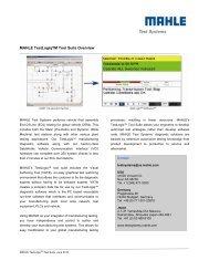 MAHLE TestLogiqTM Tool Suite Overview - Mahle Powertrain Ltd