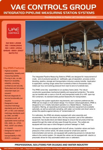 Flier Consulting Services - VAE CONTROLS