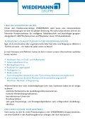 Ausbildung bei der WIEDEMANN-Gruppe - Seite 2