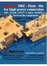 Download or view SBZ - PDF - Spectrum Elektrotechnik GmbH