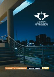 Stakeholder Report 2009.pdf - University of Johannesburg