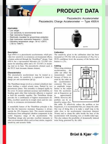 piezoelectric Accelerometer Piezoelectric Charge Accelerometer