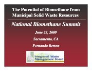 National Biomethane Summit - Low Carbon Fuels Conference Series