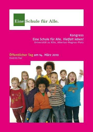 Öffentlicher Tag am 14. März 2010 - Eine Schule für Alle